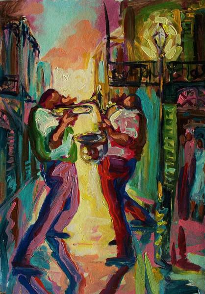 Wall Art - Painting - Two For Jazz by Saundra Bolen Samuel