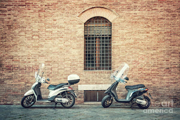 Siena Photograph - Two For The Road by Evelina Kremsdorf