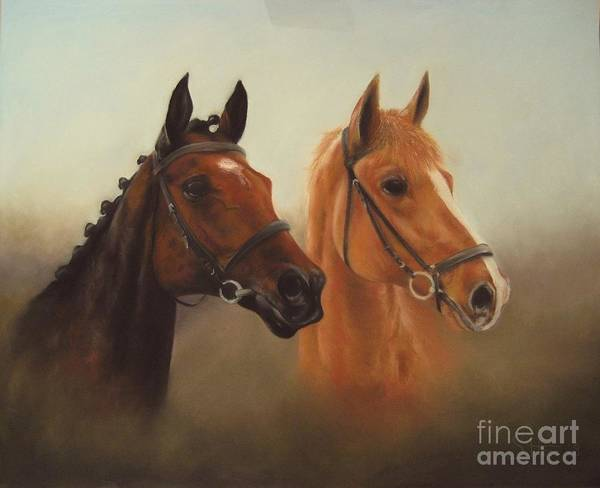 Wall Art - Painting - Two Friends by Sabina Haas