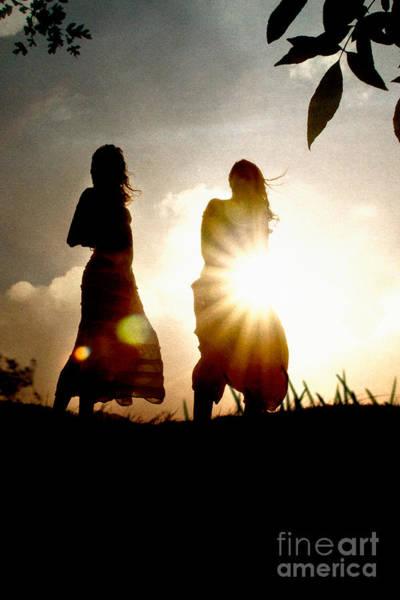 Photograph - Two Girls And Sunburst by Clayton Bastiani