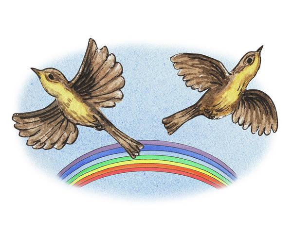 Painting - Two Happy Birds by Irina Sztukowski
