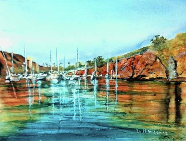 Painting - Two Harbors Catalina Morning Impressions by Debbie Lewis
