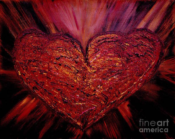 Become One Wall Art - Painting - Two Hearts Become One Heart by Catalina Walker