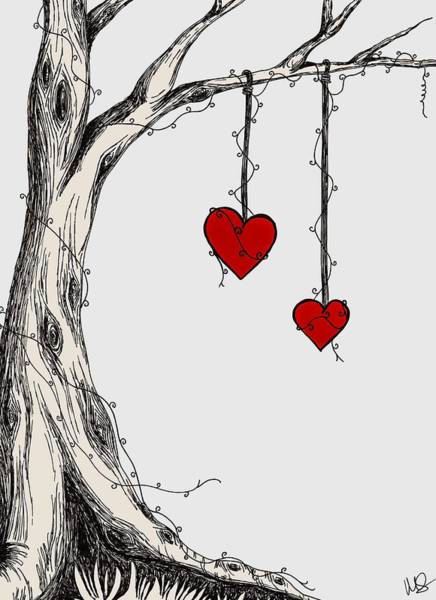 Wall Art - Digital Art - Two Hearts Graphic by Melissa Smith