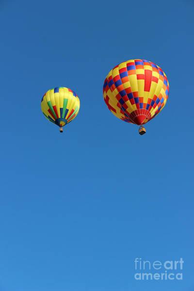 Photograph - Two Hot Air Balloon Friends by Karen Adams