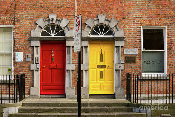 Photograph - Two Irish Doors by Les Palenik