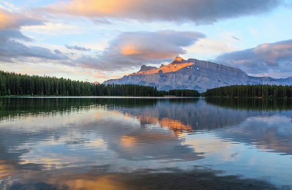 Two Jack Lake, Banff National Park Art Print