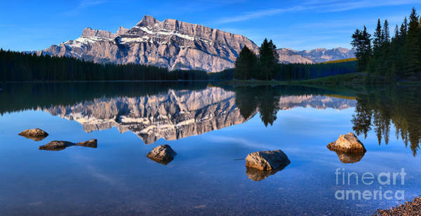 Photograph - Two Jack Lake Calm Sunrise by Adam Jewell