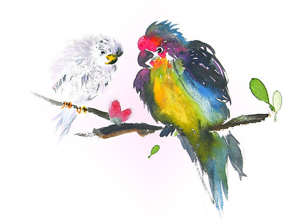 Painting - Two Kinds One Heart by Miki De Goodaboom