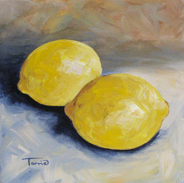 Wall Art - Painting - Two Lemons by Torrie Smiley