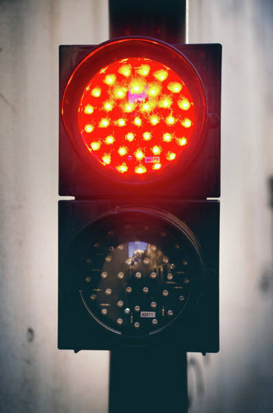 Stop Light Photograph - Two Light Semaphore by Carlos Caetano