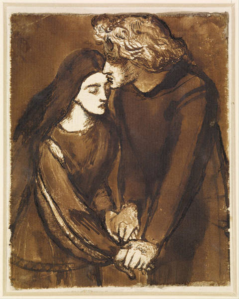 Painting - Two Lovers by Dante Gabriel Rossetti