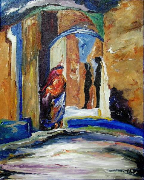 Painting - Two Lovers In The Dark by Ray Khalife