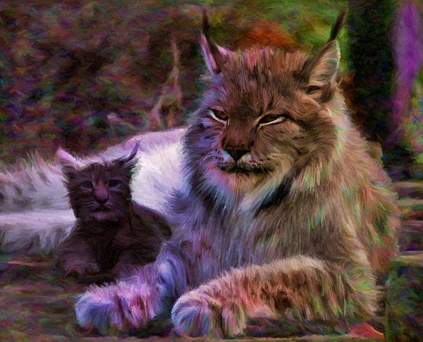 Digital Art - Two Lynxes by Caito Junqueira