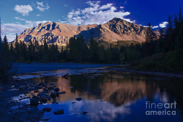 Photograph - Two Medicine Afternoon Reflections by Adam Jewell