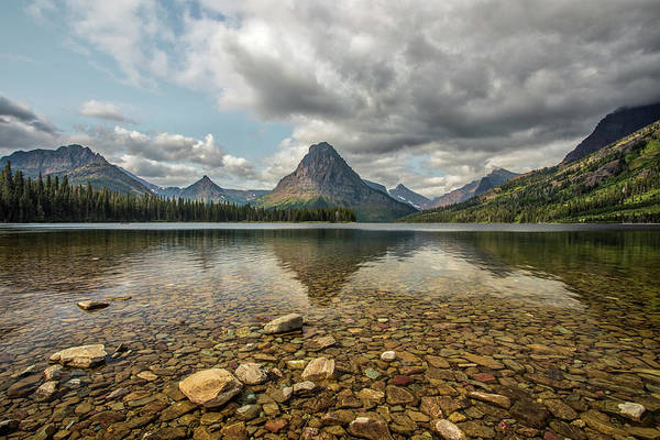 Photograph - Two Medicine Lake by Peter Tellone