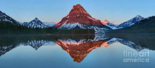 Photograph - Two Medicine Mt. Sinopah Sunrise Glow by Adam Jewell
