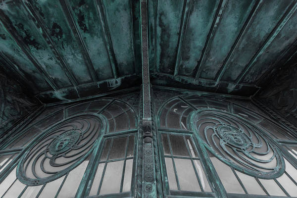 Wall Art - Photograph - Two Medusa Windows Carousel House Asbury Park New Jersey by Terry DeLuco