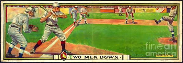 Wall Art - Photograph - Two Men Down 1909 by Padre Art