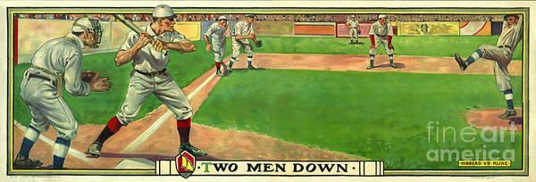 Baseball Player Wall Art - Photograph - Two Men Down by Jon Neidert