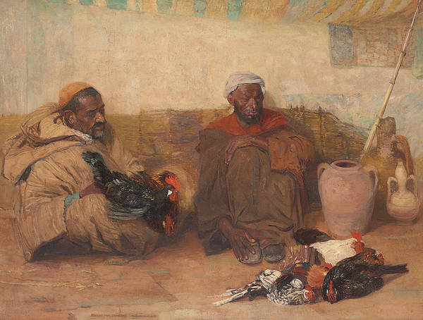 Wall Art - Painting - Two Men Of Tangiers, 1908  by Robert Lee MacCameron