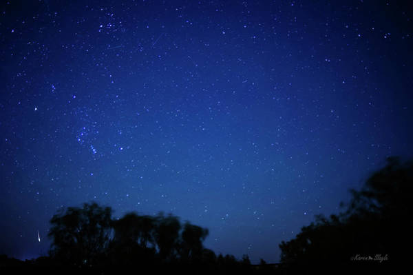 Photograph - Two Meteors And A Fireball by Karen Slagle