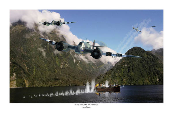 Royal Air Force Digital Art - Two Minutes Of Terror - Titled by Mark Donoghue