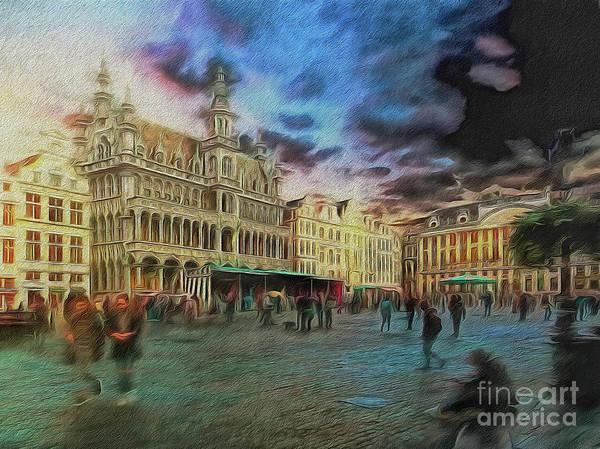 Digital Art - Two Nights In Brussels #21 Season's End by Leigh Kemp