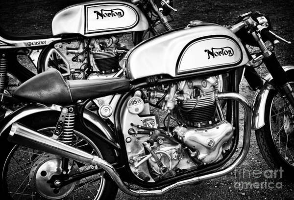 Photograph - Two Norton Cafe Racers by Tim Gainey