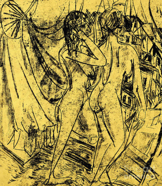 Wall Art - Painting - Two Nudes At The Window by Ernst Ludwig Kirchner