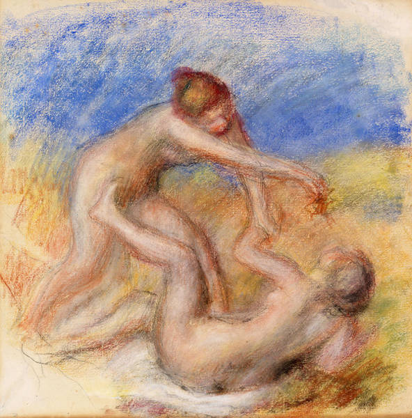 Wall Art - Painting - Two Nudes by Pierre-Auguste Renoir