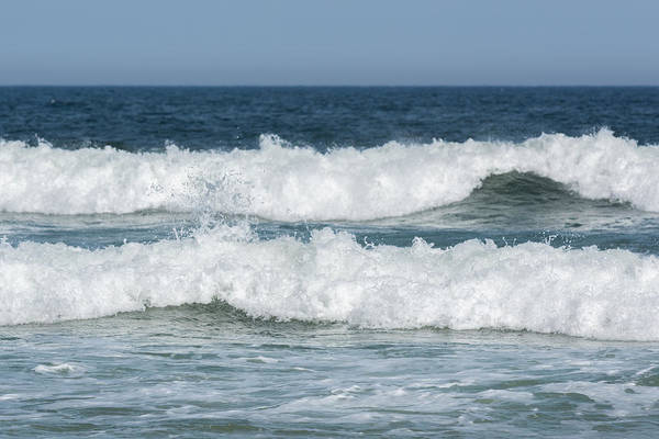 Photograph - Two Ocean Waves Seaside New Jersey by Terry DeLuco