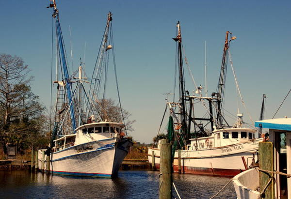 Wall Art - Photograph - Two Old Shrimpboats by Susanne Van Hulst