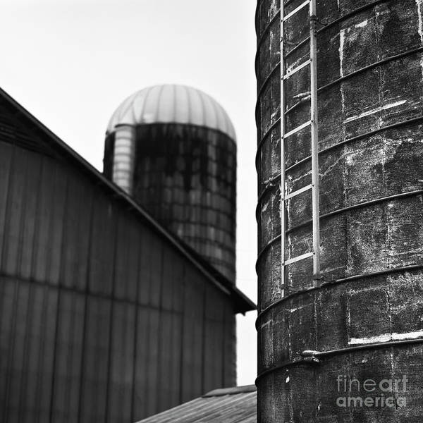 Photograph - Two Old Silos by Patrick M Lynch