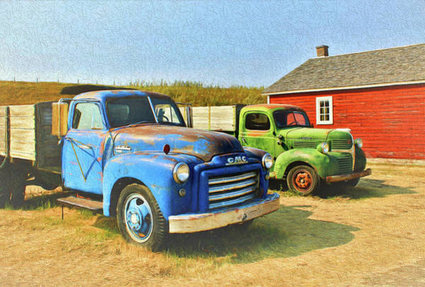 Photograph - Two Old Trucks  by Ola Allen