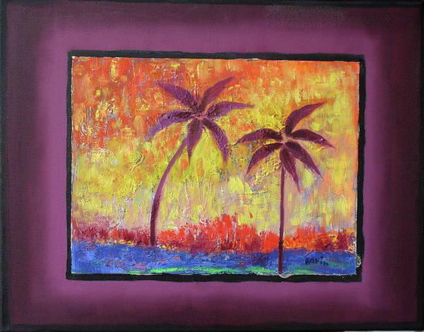 Two Palm Trees Art Print
