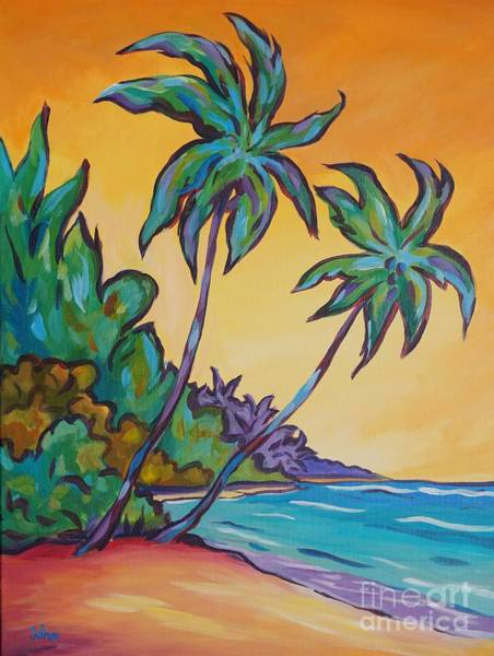 Wall Art - Painting - Two Palms by John Clark