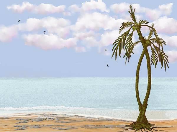 Digital Art - Two Palms by Tony Rodriguez