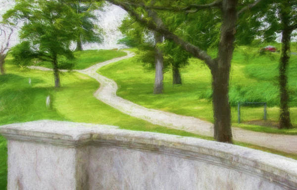 Maynooth Photograph - Two Paths by CJ Middendorf