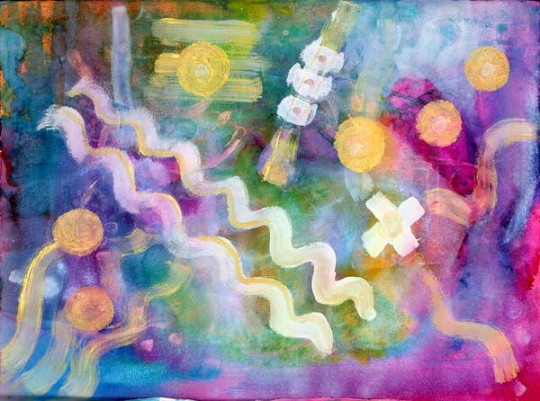 Emanate Painting - Two Plus Two  by Don  Wright