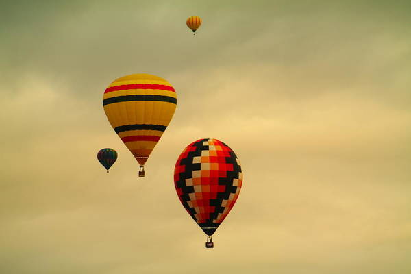 Ballons Photograph - Two Racing Balloons by Jeff Swan