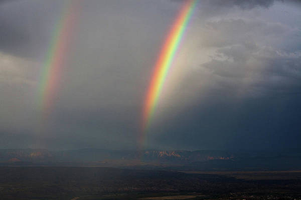 Photograph - Two Rainbows by Ron Chilston