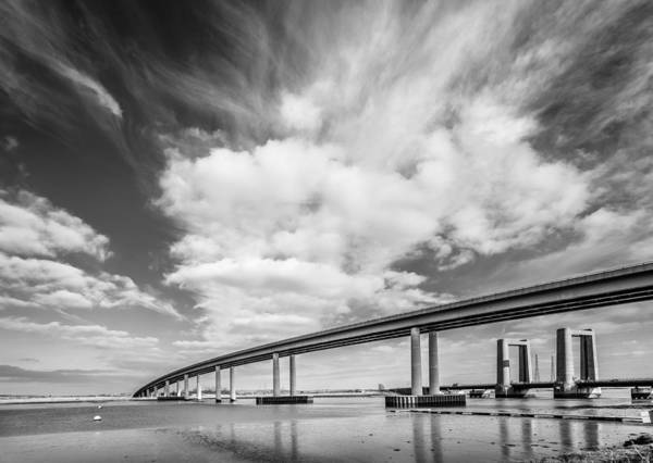 Photograph - Two River Bridges by Gary Gillette