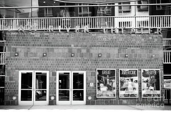 Wall Art - Photograph - Two River Theater In Black And White by Colleen Kammerer