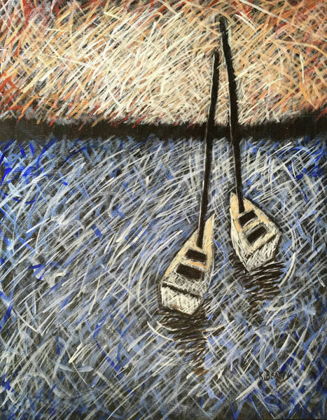Scumble Wall Art - Painting - Two Sailboats by Karla Beatty