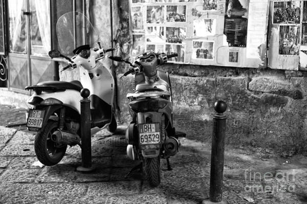 Photograph - Two Scooters In Naples by John Rizzuto