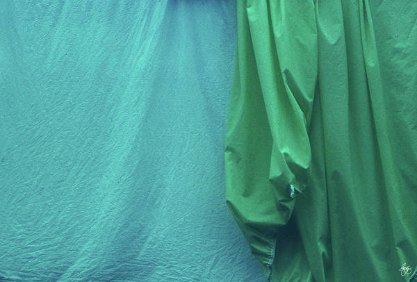 Photograph - Two Sheets Abstract In Aquagreen by Wayne King