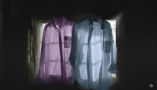 Photograph - Two Shirts In A Dark Room by Wayne King
