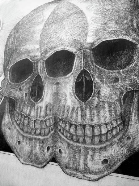 Kopf Photograph - Two Skulls ... by Juergen Weiss
