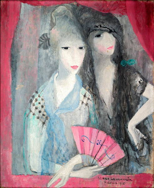 Wall Art - Painting - Two Spanish Women by Marie Laurencin